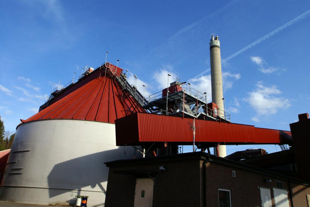 A biofuel power plant that converts biogas into renewable energy