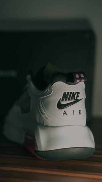 The back of Air Jordan's.