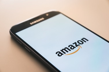 The Amazon app on a smartphone.