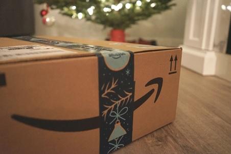An Amazon packaging box.